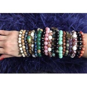 Jewelry - Variety of Semi-precious Gemstone Bracelets